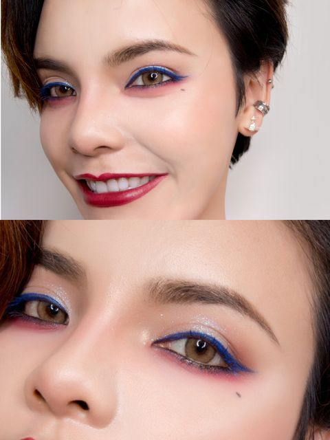 Wanna make yourself look different? Change the color of eyeliner and mascara!