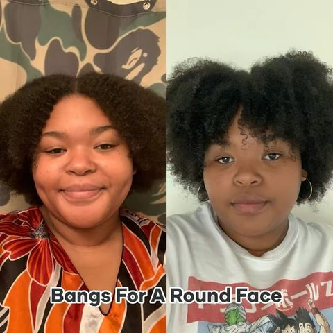 Cute Bangs for a Round Face. 💇🏽♀️