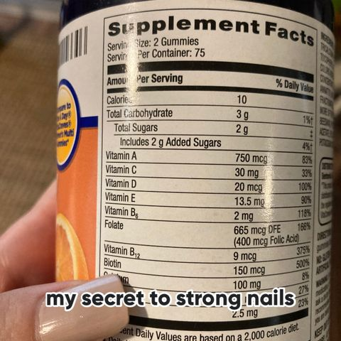the secret to long, strong natural nails