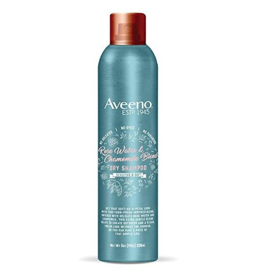 Rose Water and Chamomile Gentle Dry Shampoo, Aveeno, cherie