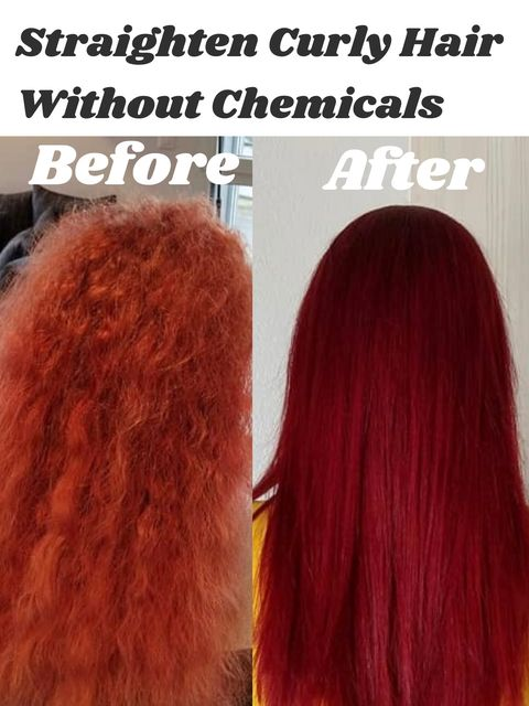 How to straighten curly hair without chemicals? My secret is...