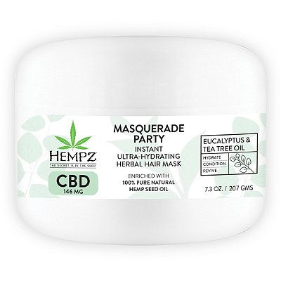 CBD Masquerade Party Instant Ultra-Hydrating Herbal Hair Mask, HEMPZ, cherie