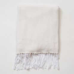 Essential Knit Throw White