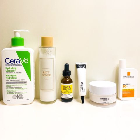 Morning routine for bright and glowy skin