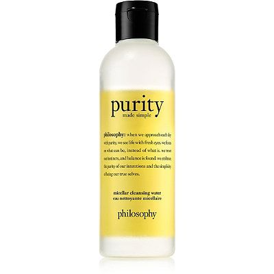Purity Made Simple Micellar Cleansing Water, philosophy, cherie
