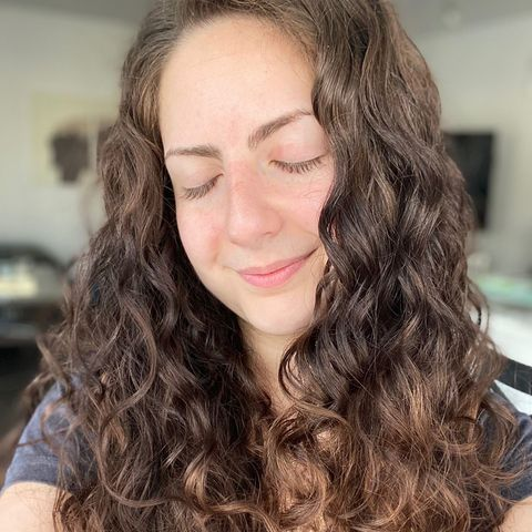 "How I ""Plop""/Air Dry My Wavy/Curly Hair w/ pics!"