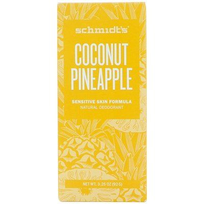 Natural Deodorant, Sensitive Skin Formula, Coconut Pineapple