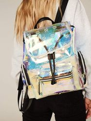 Laura Holographic Monogram Backpack