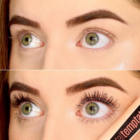 Mascara Before & After using M