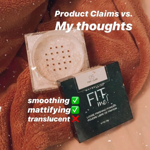 CLAIMS VS THOUGHTS   Maybelline Fit Me