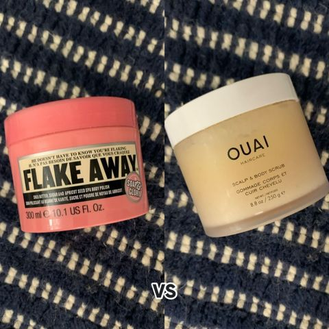 soap & glory vs ouai 🐡 body scrub comparison!