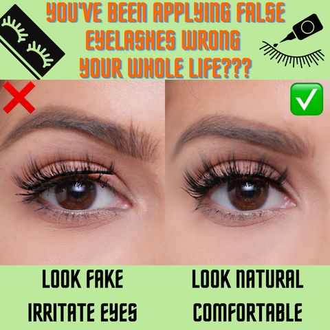 Ultimate Checklist😮6 Top mistakes to apply false lashes!