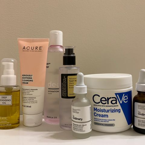 altered PM routine for sensitive & dry skin