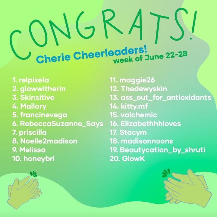This week's Cherie Cheerleaders! (6/29)