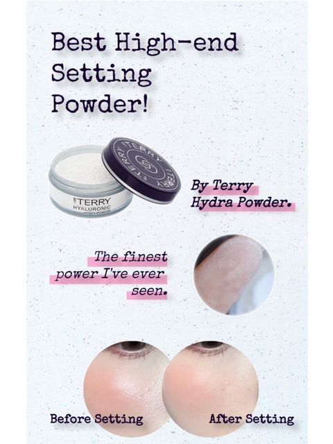 If your T-zone easily becomes oily, try this high-end setting powder😘
