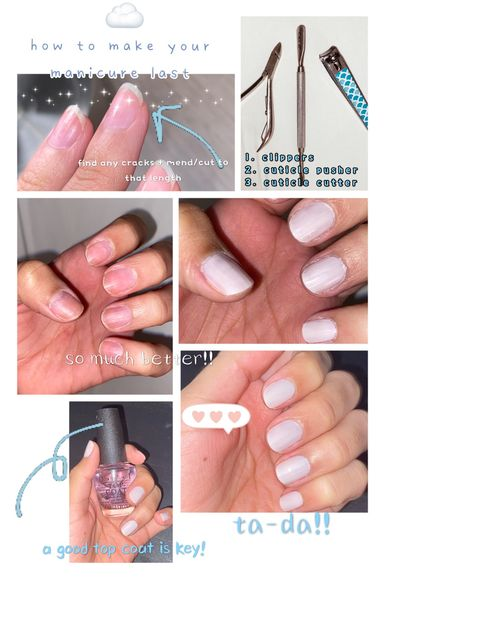 🤍 how to make your mani last 🤍