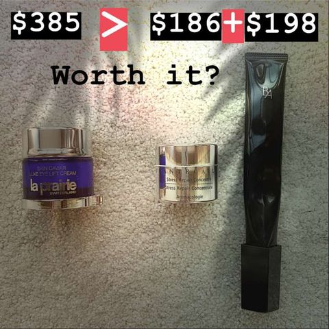 Worth it? Eye Cream of La prairie VS Chantecalie
