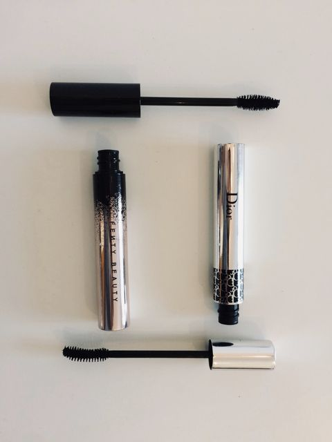 Dupes - Fenty Beauty Full Frontal Volume Lift and Curl Mascara v Dior Show Iconic Overcurl Mascara