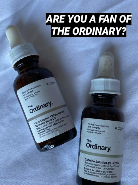 More face (and hand and hair) serums from The Ordinary