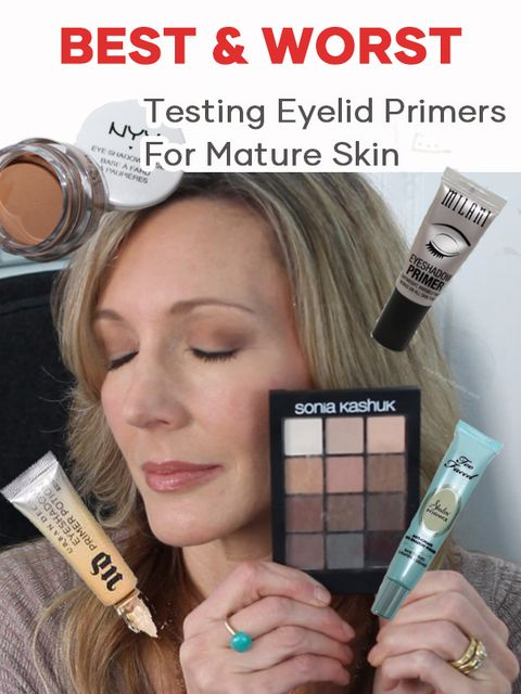 I put 4 Eye Primers to the test to find the best for crepey eyelids