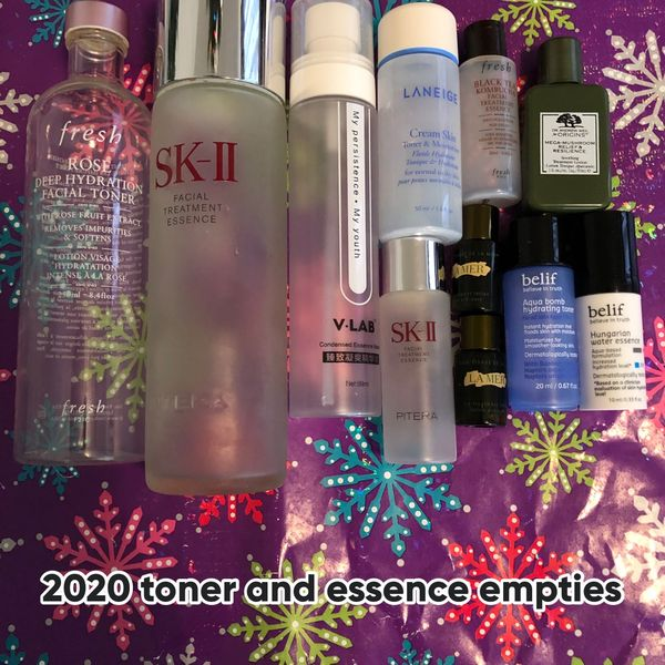 All the toners and essences I have emptied  | Cherie