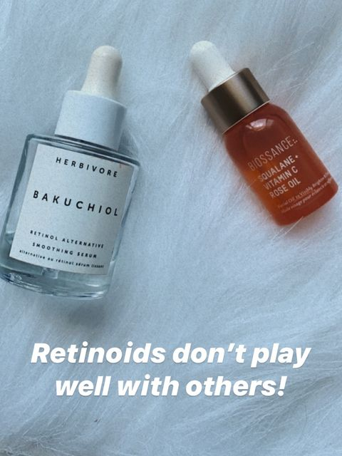 Retinoids just don't mix well with others!