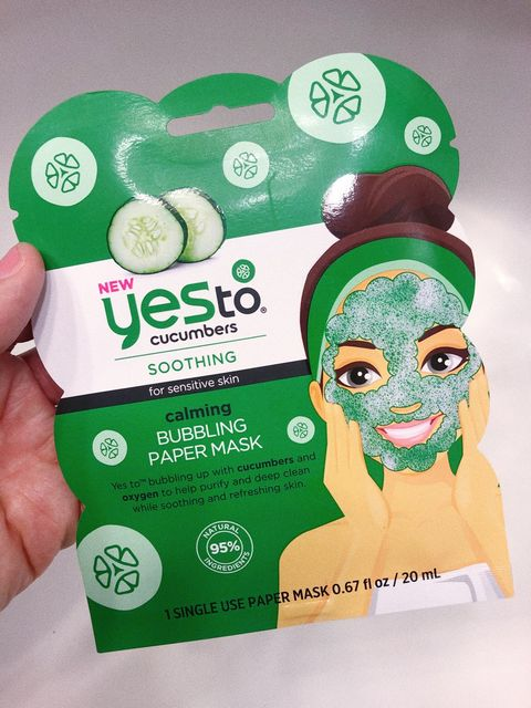 Yes to cucumber bubbling paper mask