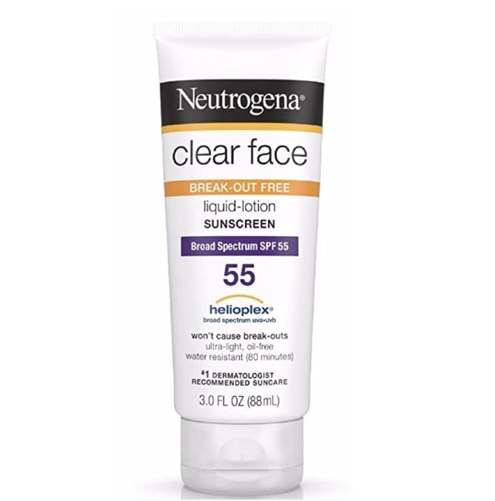 Clear Face Break-Out Free Liquid-Lotion Sunscreen SPF 55