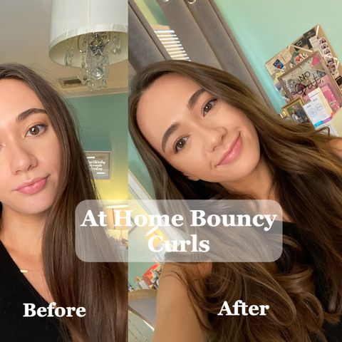 At Home Blow Dry + Bouncy Curls