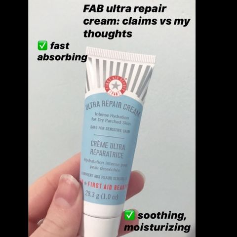 FAB ultra repair cream: claims vs my thoughts