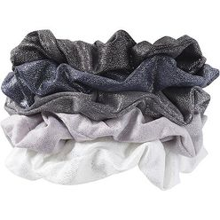 Black and Gray Hair Scrunchies