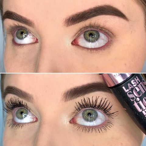 Mascara Before & After😍 using