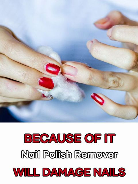 Does nail polish remover damage our nails?