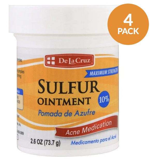 Sulfur Ointment, Acne Medication, Maximum Strength