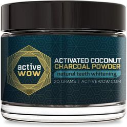 Activated Coconut Charcoal Powder Natural Teeth Whitening