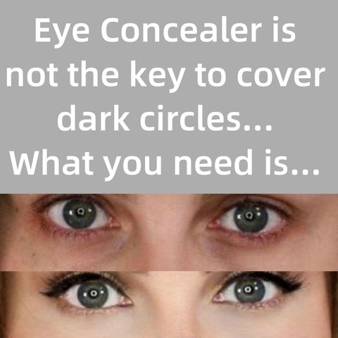 Don't always say you can't cover dark circles, maybe you just miss the right tool