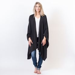 Organic Cotton Travel Wrap Black Black