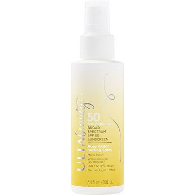 SPF 50 Sunscreen Rose Water Setting Spray