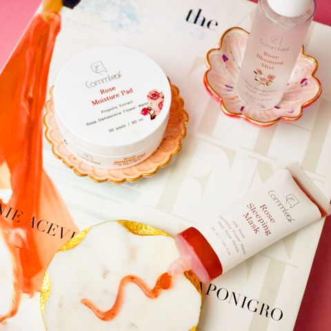 3 lovely rose-infused products
