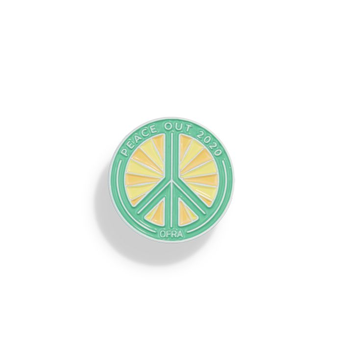 Peace Out 2020 Pin Teal