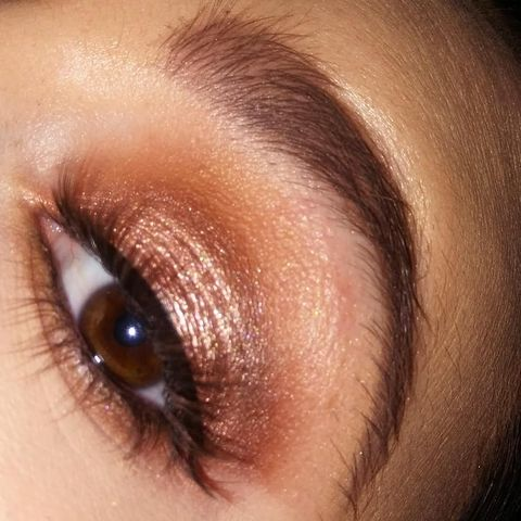 Eye makeup of the day wearing