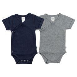 Organic Cotton Everyday Kimono Bodysuit Bundle Navy