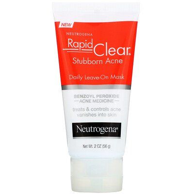 Rapid Clear, Stubborn Acne, Daily Leave-On Mask, Neutrogena, cherie