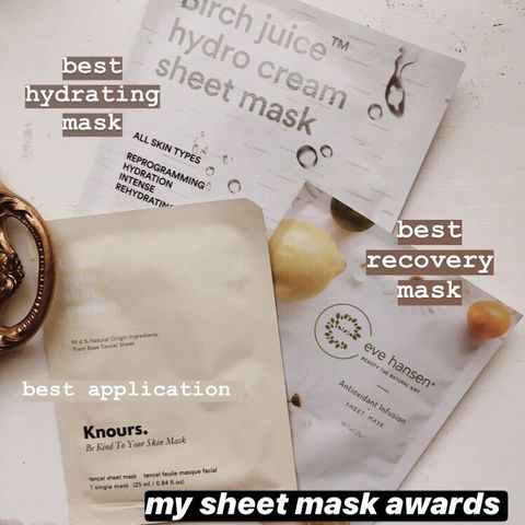 best in: sheet masks