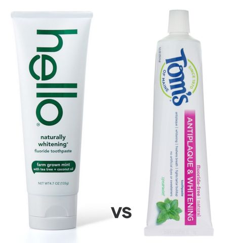 Hello toothpaste vs Toms tooth