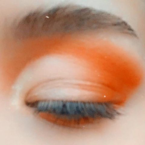 Little orange cut crease I did today