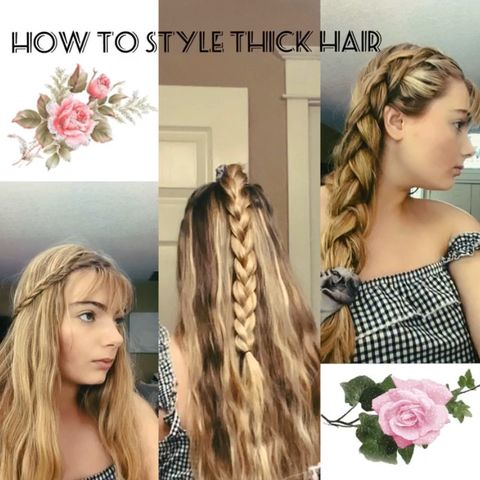 how to style and manage thick hair!