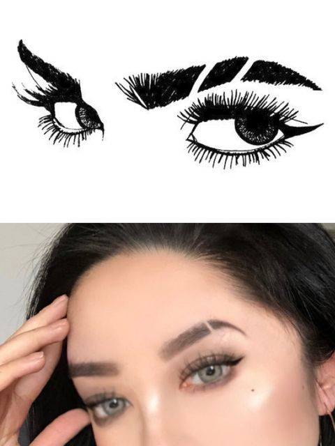 😎Wanna get a cool slit eyebrow like this? Just 7 Steps!