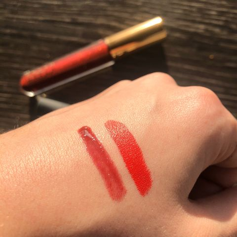 Favorite V-Day lip combo swatches