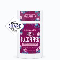 Rose + Black Pepper Hemp Seed Oil Enriched Deodorant Stick